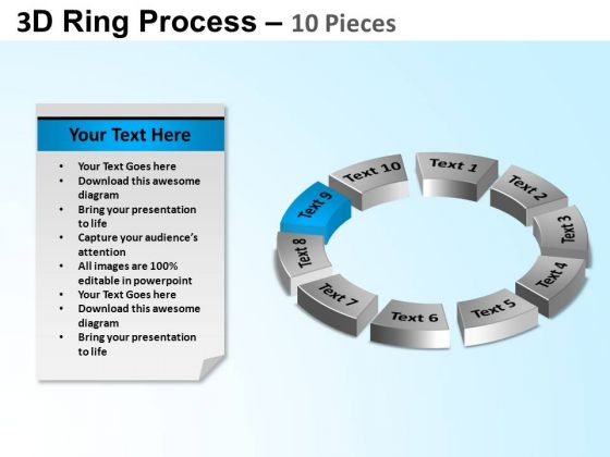 PowerPoint Design Circle Chart Ring Process Ppt Template
