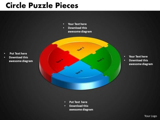 PowerPoint Design Circle Puzzle Business Ppt Theme