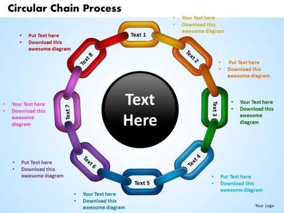 PowerPoint Design Circular Chain Process Success Ppt Backgrounds