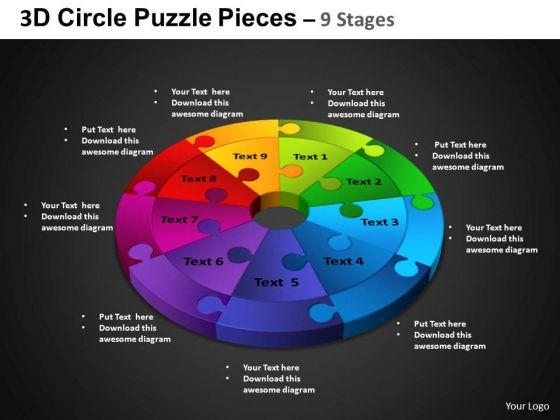 PowerPoint Design Circular Chart Circle Puzzle Diagram Ppt Slidelayout