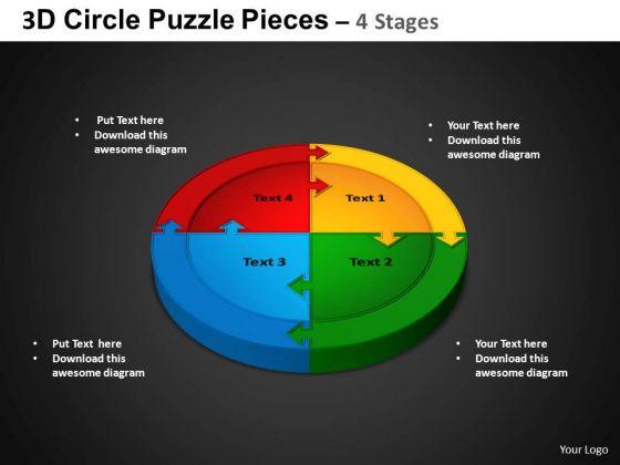 PowerPoint Design Circular Process Circle Puzzle Diagram Ppt Slidelayout