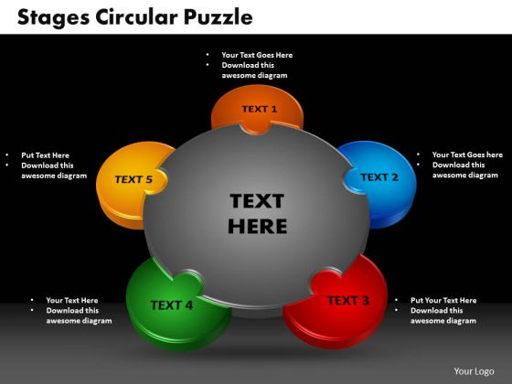 PowerPoint Design Circular Puzzle Company Ppt Presentation