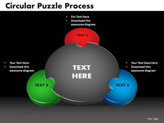PowerPoint Design Circular Puzzle Process Ppt Presentation