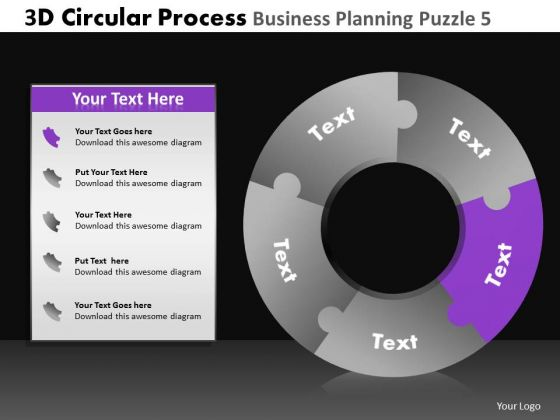 PowerPoint Design Company Competition 3d Circular Chart Process Ppt Presentation