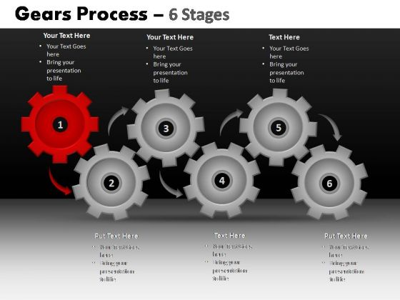 PowerPoint Design Company Gears Process Ppt Slides