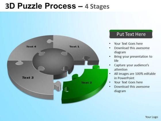 PowerPoint Design Company Jigsaw Pie Chart Ppt Presentation Designs