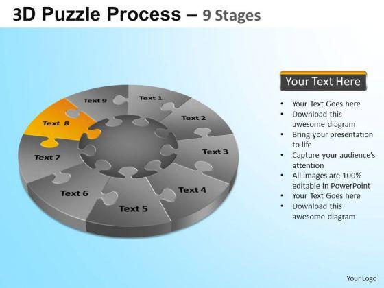 PowerPoint Design Company Puzzle Segment Pie Chart Ppt Presentation