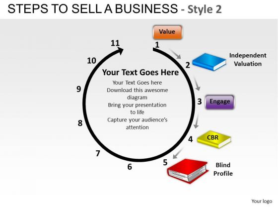 PowerPoint Design Company Success Steps To Sell A Business Ppt Slidelayout