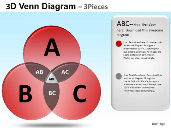 PowerPoint Design Corporate Education Venn Diagram Ppt Slide