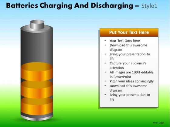 PowerPoint Design Corporate Growth Batteries Charging Ppt Process