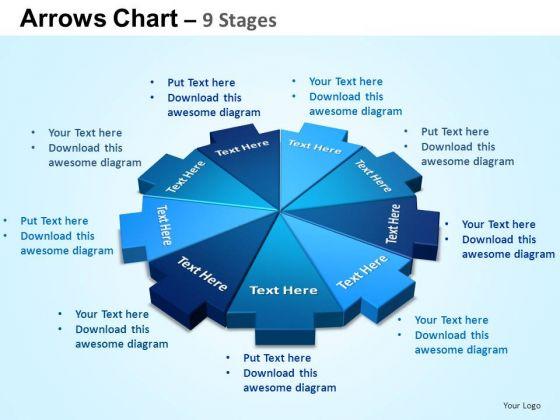PowerPoint Design Diagram Arrows Chart Ppt Slides
