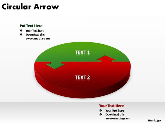 PowerPoint Design Diagram Circular Arrow Ppt Themes