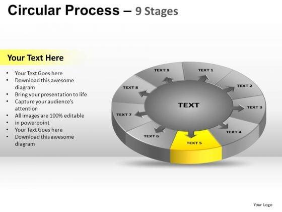 PowerPoint Design Diagram Circular Process Ppt Process