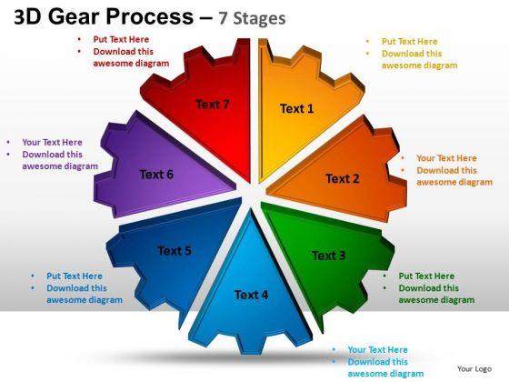 PowerPoint Design Diagram Gear Process Ppt Theme