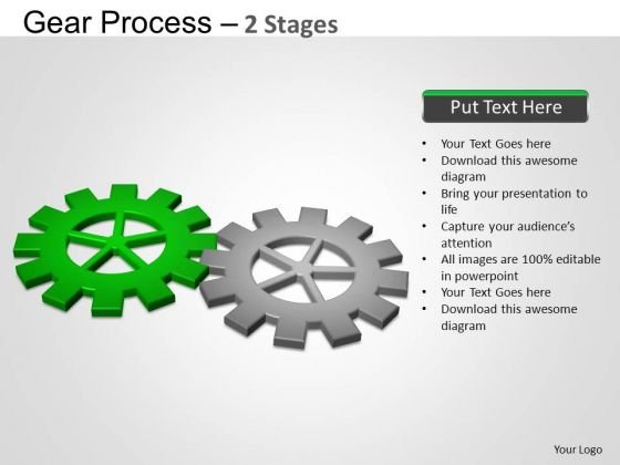 PowerPoint Design Diagram Gears Process Ppt Presentation