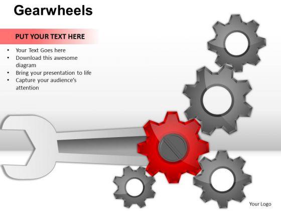 PowerPoint Design Diagram Gearwheels Ppt Layout
