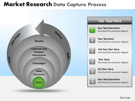 PowerPoint Design Diagram Market Research Ppt Slides