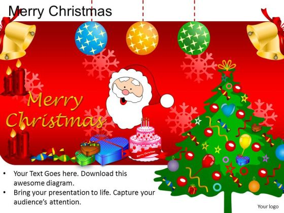 PowerPoint Design Diagram Merry Christmas Ppt Slides