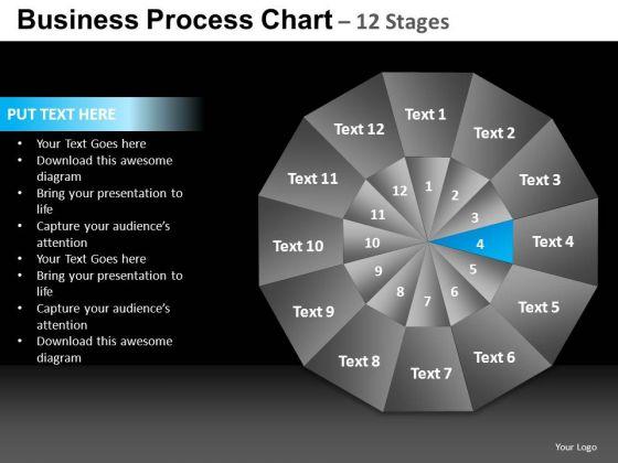 PowerPoint Design Diagram Pie Chart Ppt Slide