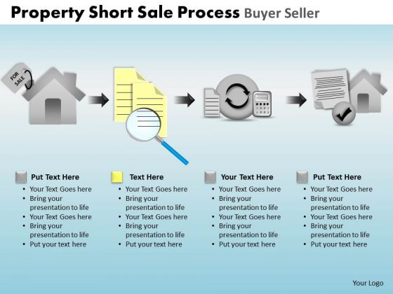 PowerPoint Design Diagram Property Short Sale Ppt Process