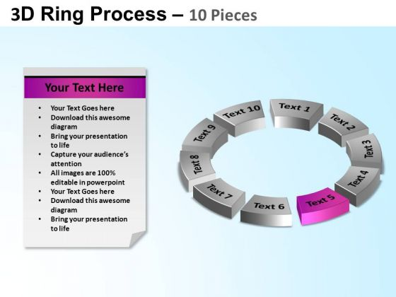 PowerPoint Design Diagram Ring Process Ppt Template