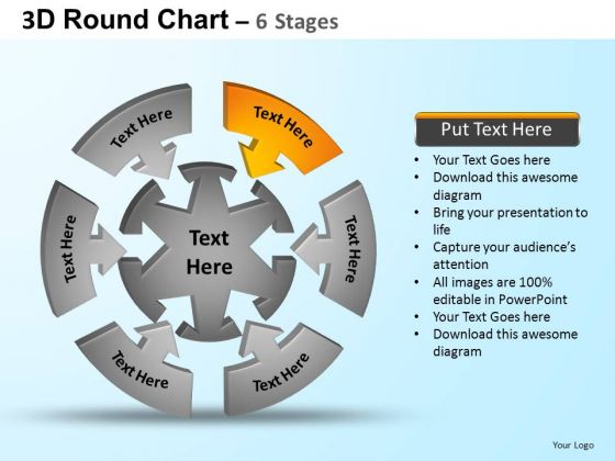 PowerPoint Design Diagram Round Process Flow Chart Ppt Template