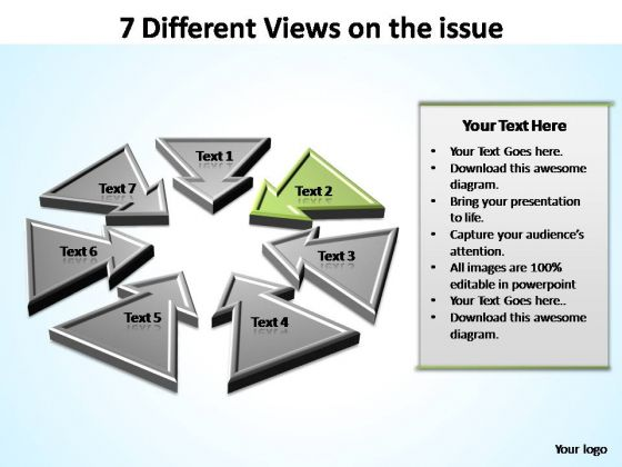 PowerPoint Design Diagram Views Ppt Template