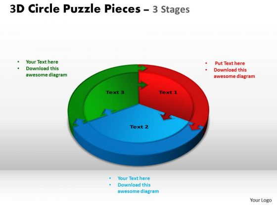 PowerPoint Design Download Circle Puzzle Ppt Layouts