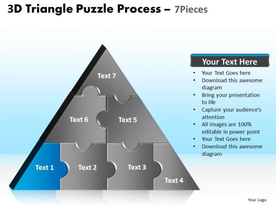 PowerPoint Design Download Triangle Puzzle Ppt Template