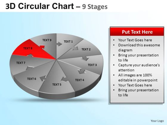 PowerPoint Design Editable Circular Ppt Template