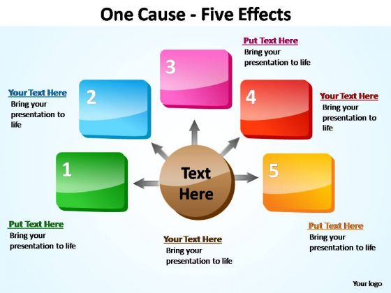 PowerPoint Design Editable Five Effects Ppt Slide