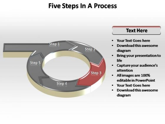 PowerPoint Design Editable Five Steps Ppt Theme