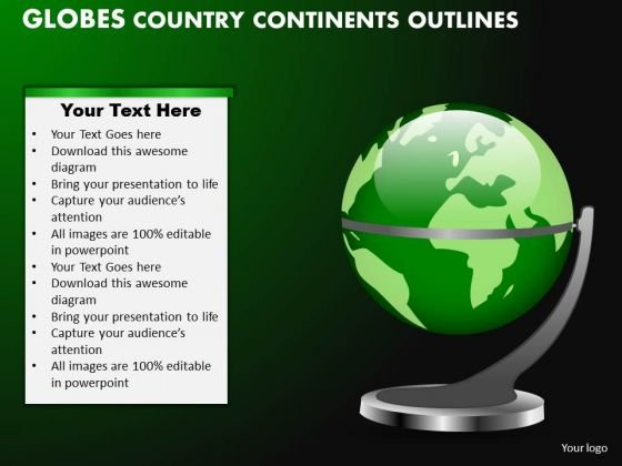 PowerPoint Design Editable Globes Country Ppt Process
