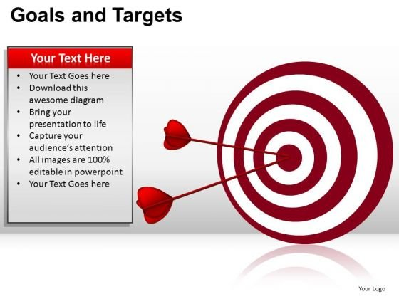 PowerPoint Design Editable Goals And Targets Ppt Slidelayout