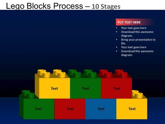 PowerPoint Design Editable Lego Blocks Ppt Backgrounds