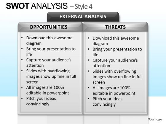 PowerPoint Design Executive Designs Swot Analysis Ppt Templates