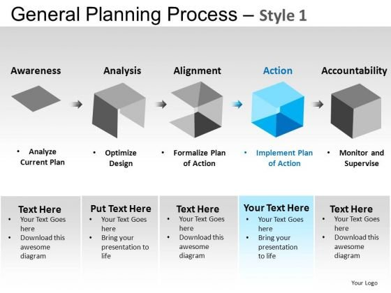 PowerPoint Design Executive Success General Planning Process Ppt Design Slides