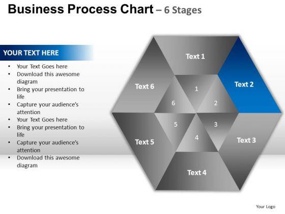 PowerPoint Design Global Circular Hexagon Pie Chart Backgrounds