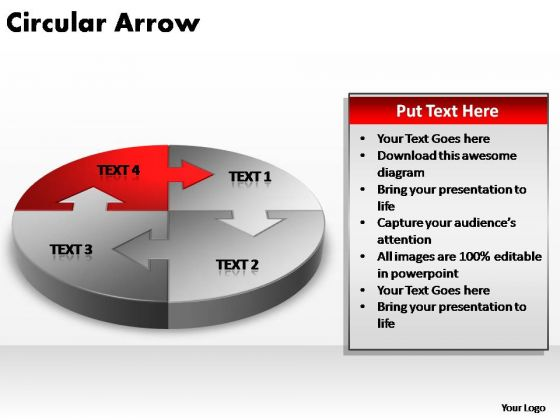 PowerPoint Design Graphic Circular Arrow Ppt Template