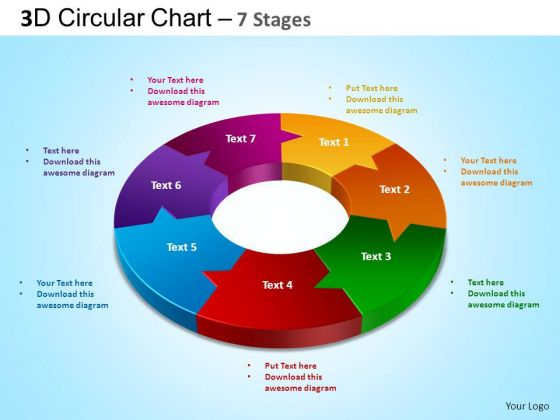 PowerPoint Design Graphic Circular Chart Ppt Slide