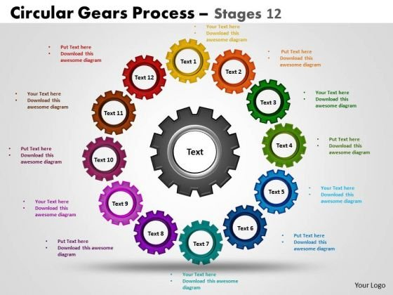 powerpoint design graphic circular gears ppt backgrounds