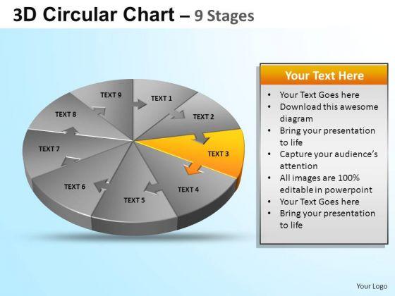 PowerPoint Design Graphic Circular Ppt Slide