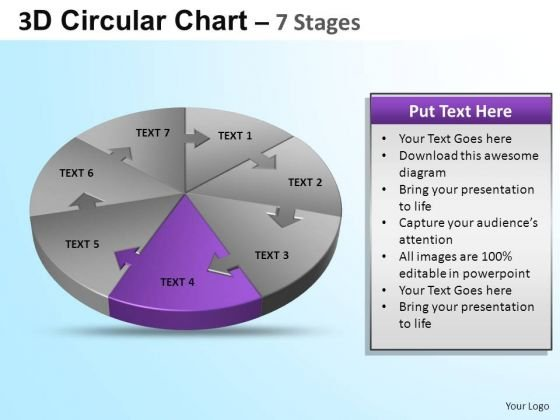 PowerPoint Design Graphic Circular Ppt Template