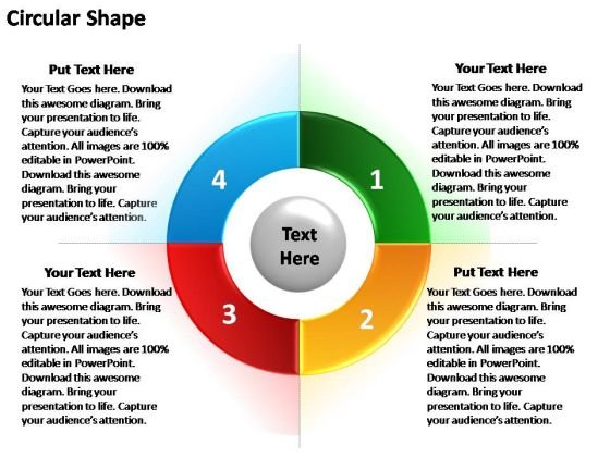 PowerPoint Design Graphic Circular Ppt Theme