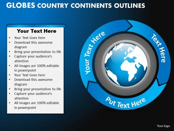 PowerPoint Design Graphic Globes Country Ppt Slidelayout