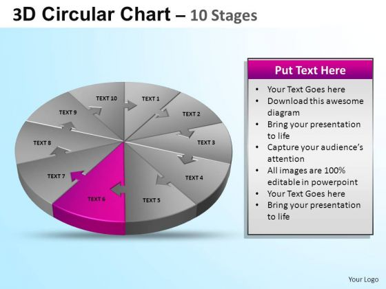 PowerPoint Design Growth Circular Ppt Theme