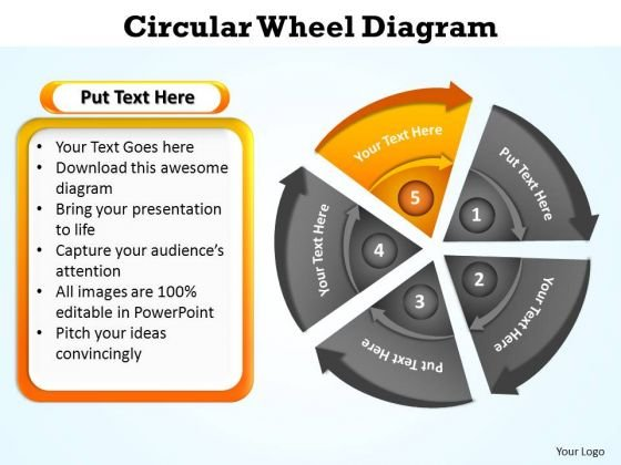 PowerPoint Design Growth Circular Wheel Ppt Themes