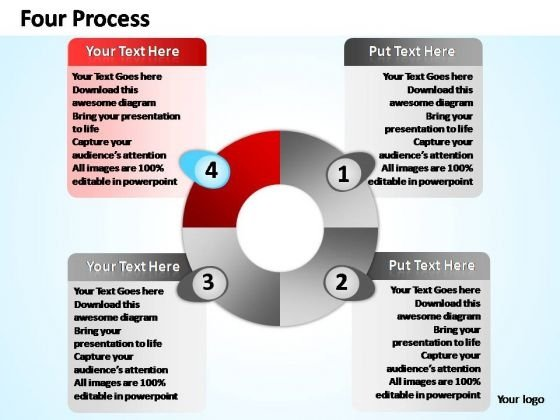 PowerPoint Design Growth Four Process Ppt Themes