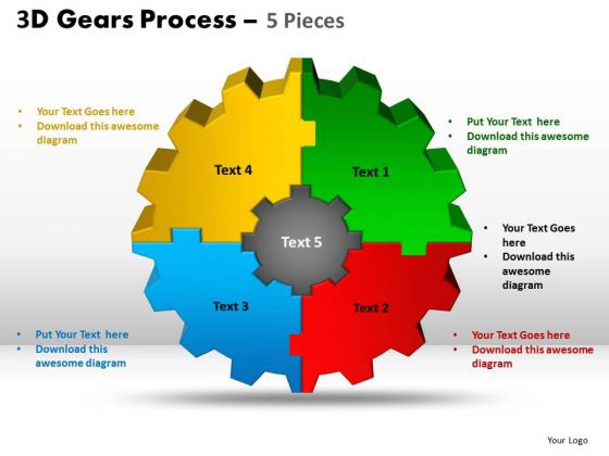 PowerPoint Design Growth Gear Process Ppt Process