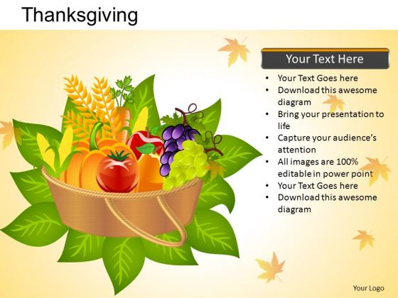 PowerPoint Design Happy Thanksgiving Ppt Slides